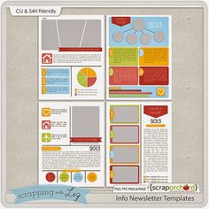 So cool!  Info graphic type scrapping templates.  And they're Story Book Creator friendly!   I Love Scrapping with Liz
