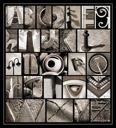 Love the concept of alphabet photos