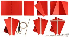 easy foldable kite - cartridge, tape and straw