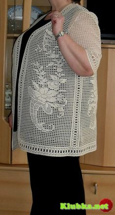 Irish lace, crochet, crochet patterns, clothing and decorations for the house, crocheted. Filet Crochet, Crochet Coat, Crochet Jacket, Tunisian Crochet, Crochet Cardigan, Thread Crochet, Irish Crochet, Crochet Shawl, Crochet Doilies