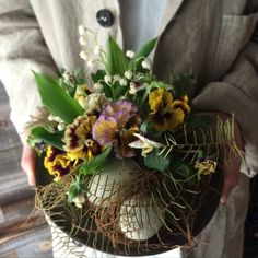 Flower arrangement for Easter. Alley_kotani
