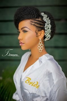 16 Stunning Hairstyles for Nigerian Brides … | wedding hair in 2018…