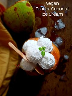 Yummy Ice Cream, Coconut Ice Cream, Ice Cream Recipes, Indian Food Recipes, Vegan Recipes, Vegetarian Platter, Burfi Recipe, Indian Curry, Biryani