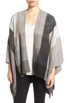 Nordstrom Check Woven Poncho available at #Nordstrom