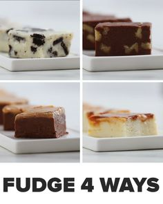 This 3-Ingredient Fudge 4 Ways Is Gonna Change The Way You Think About Dessert
