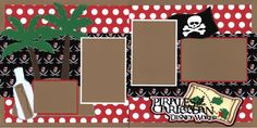 Double Layout Disney Pirates of the Caribbean Scrapbook pages by EZscrapbooks.com We offer designs in both Physical AND digital formats. Just add photos!