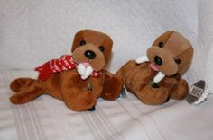 Coca Cola set of 2 walrus beanie's w/tags 97-98 EXCELLENT $11