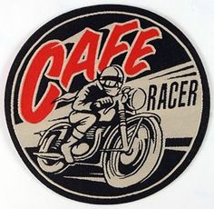 Cafe Racer Woven Iron on Patch Ton Up Boys Rockers Vintage Motorcycles | eBay