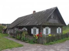 Traditional Lithuanian cottage located in Dieveniskes Historical Regional Park. Preserving traditional Lithuanian wooden architecture is an ongoing concern.
