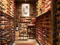 designing our wine cellar: must a stool/chair, wine racks, wine fridge, + sophisticated art!