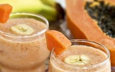 "Recipe: Papaya and banana smoothie Serves 1-2 Ingredients: 1 cup Papaya, or Pineapple cubes 1 Banana 1 cup pro-biotic Yogurt, plain or fruit – buy from the chillers not the un-chilled varieties 1/2 cup Coconut Milk, Almond Milk or Rice Milk 1 Tbs. Honey 2 Tbs. Almonds Blend until smooth. If resulting mix is too<a href=""http://www.drinkmehealthy.com/recipe-smoothies-to-aid-stomach-problems/"" title=""Read more"" >...</a>"