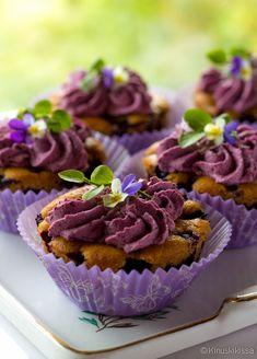 Helpot mansikkajäätelöt | Reseptit | Kinuskikissa No Bake Cake, A Food, Berries, Cupcakes, Baking, Desserts, Drama, Merry, Tailgate Desserts