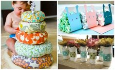 Baby shower centerpieces that make gifts