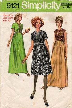 Z181 CHOICE 1970 Simplicity PATTERN Misses Size 10,12 DRESS Blouse MINI-SKIRT