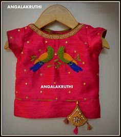 Kids pattu lehangas, Parrot desings hand embroidery, Kids tradational wear desings, custom desings by Angalakruthi Lehanga desings for kids Hand Embroidery in Bangalore, Angalakruthi Ladies and kids boutique in Bangalore  Custom designs in Bangalore, designer wear in Bangalore, mom and me designs,