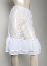 Diana Style Skirt Length Extender in White www.MakeMeModest.com