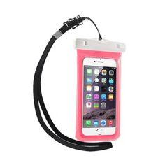 V1 Vandtæt Pose til 4,7'' Smartphones, Størrelse: 15 x 7,5cm - Pink