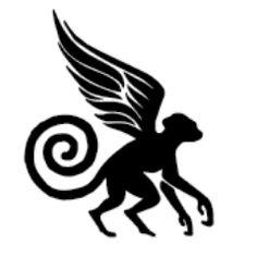 flying monkey silhouette