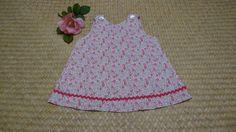 Robe trapèze en Liberty Eloïse rose sur commande : Mode Bébé par la-vallee-heureuse-creations