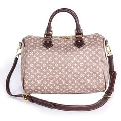 We guarantee the authenticity of this bag or your Full Money Back. The bag has been inspected and authenticated by our experts. Description: Authentic Louis Vuitton Idylle Speedy Bandoulière 30 Sepia