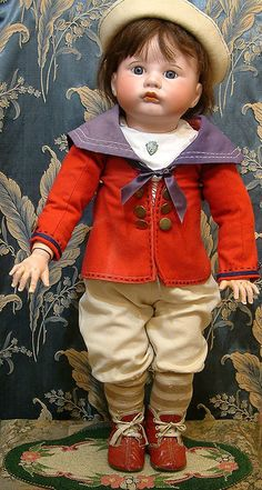 "28"" Huge SFBJ 252 Pouty Character Boy All Original- THE CUTEST Doll from kathylibratysantiques on Ruby Lane"