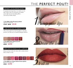 Oriflame Catalogue | Oriflame Cosmetics The One, Oriflame Cosmetics, Full Lips, Lip Plumper, Lip Balm, Catalog, Make Up, Lipstick, Beauty