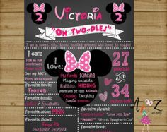 Minnie Mouse Birthday Chalkboard Poster by VickiTsCreations