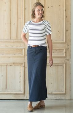 3948225db3b6 Modest Women's Amelie Long Skirt | Inherit Clothing Company – Inherit Co. Modest  Denim Skirts
