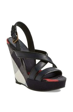 Perfect with jeans or a cute spring dress | Burberry Wedge Sandal