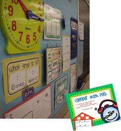 Classroom Math Focus Wall - LOTS of color options!