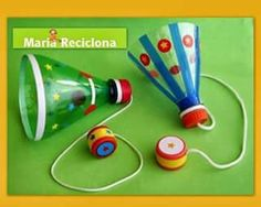 Mais um brinquedo com material reciclado para a… Kids Crafts, Diy And Crafts, Craft Projects, Paper Crafts, Plastic Bottle Crafts, Plastic Bottles, Craft Activities, Toddler Activities, Games For Kids