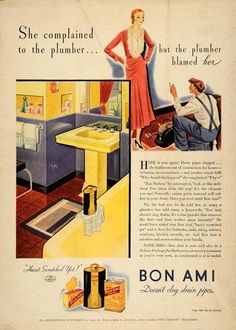 1932 Vintage Ad Bon Ami Cleanser Bathroom Sink Plumber Original Advertising | eBay