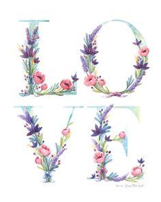 Watercolor Floral Love | Four Wet Feet Studio