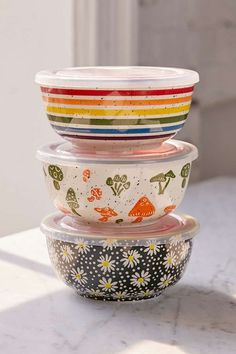 Decorative bowls that double as storage for leftovers or lunch on-the-go // Urban Outfitters UO Essential Printed Bowl // #storage #leftovers #ad