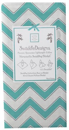 "Swaddle Designs ""Chevron"" Marquisette Swaddling Blanket *Blanket I can hope for*"