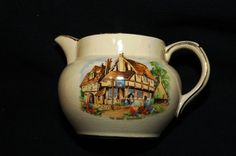 Vintage English Country Inn Pottery Milk Jug via Etsy