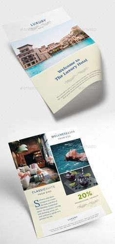 Hotel Flyer  Photoshop Cs Print Templates And Photoshop