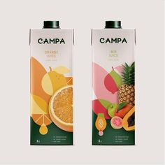 Menta Branding mentabranding Rebranding for Campa one of the leading brands of juice in Georgia We redesigned a custom wordmark that reflects quality and warmth Also dev. Fruit Packaging, Food Packaging Design, Beverage Packaging, Bottle Packaging, Packaging Design Inspiration, Brand Packaging, Branding Design, Logo Design, Custom Design