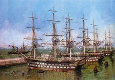""". 84 arma de clase acorazado """"Lefort"""" en el puerto de Kronstadt."""