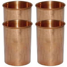 Small Handmade Copper Drinking Tumbler,Set of 4 Glasses