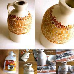 DIY Colored Eggshell Mosaic Jug DIY Colored Eggshell Mosaic Jug by diyforever