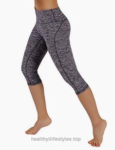 be7ded0140f4 ODODOS Power Reflex Yoga Capri Pants Tummy Control Workout Running 4 way  Stretch Yoga Capri Pants With Hidden Pocket,NavyHearher,Medium – Healthy  Lifstyle