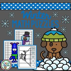 **50% OFF**Winter Math Puzzles Skills reviewed are: Numbers 1-8, 1-10, 1-12 Addition Counting by 5's and 10's Tally Marks Dice Dot counting Subtraction Ordering from smallest to largest