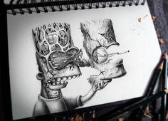 dibujos a lapiz de graffitis de hongos - Buscar con Google