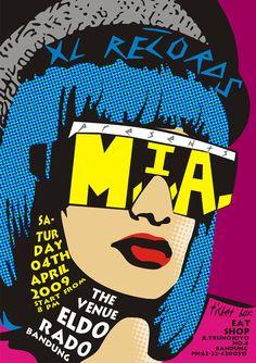 M.I.A in pop art by ~apsarasapsari on deviantART