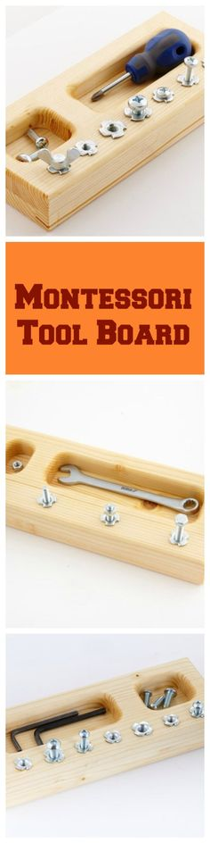 Montessori Tool skill boards will help teach children (3-6) the practical life skill of using a nuts, bolts and wrench. The board will also teach hand eye coordination while working on fine motor skills.
