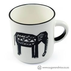 Coffee Mug  Tribal Oliphant by SugarandViceSA on Etsy