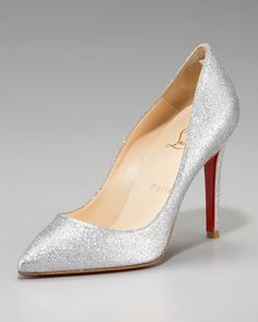 Pigalle Glitter Pump by Christian Louboutin at Neiman Marcus.