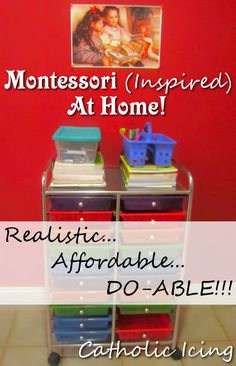 *Disclaimer- My activities are all Montessori inspired, but this post is not for the Montessori...
