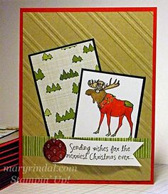 Visions of Santa Moose Card {scrap and stamp with mary}